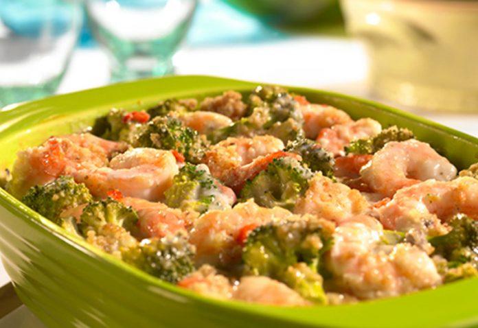 Gratin aux brocolis et crevettes avec thermomix