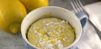 Mug Cake au citron Weight watchers