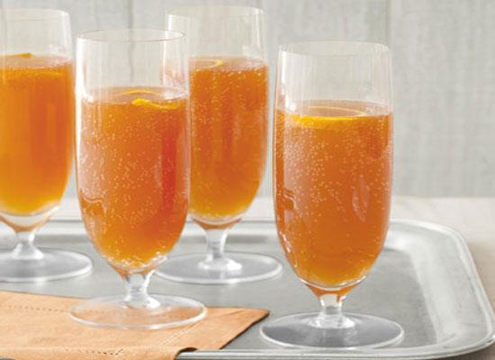 Cocktail Xérès, orange, et pomme