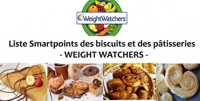 Liste Smartpoints des biscuits et des pâtisseries - WEIGHT WATCHERS