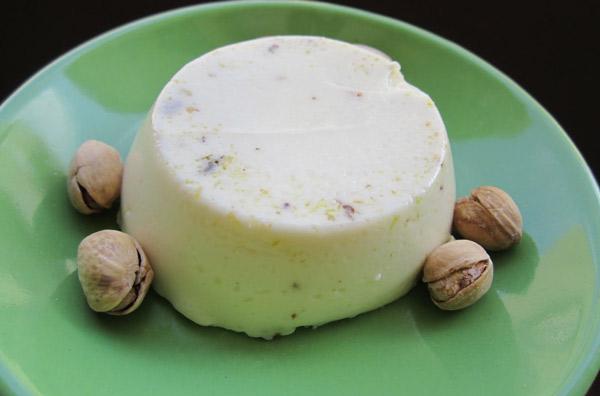 Panna cotta aux pistaches avec Thermomix