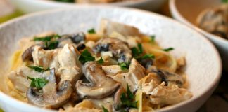 Poulet aux champignons Weight watchers