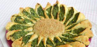Soleil feuilleté aux épinards