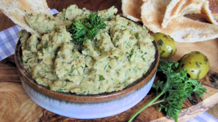 Tartinade aux artichauts et olives vertes