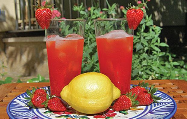 Limonade aux fraises