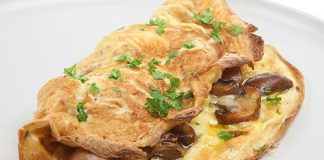 Omelette aux champignons Weight Watchers