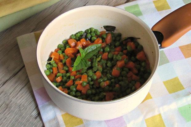 Poêlée de petits pois et carottes weight watchers