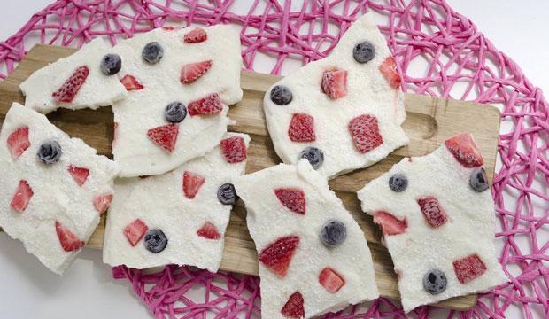 Barres glacées aux fruits et yaourt