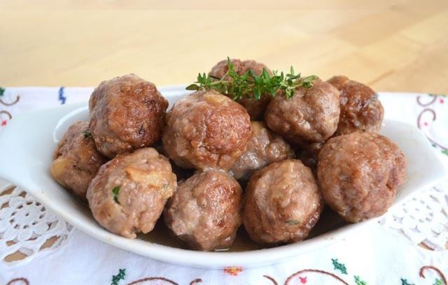 boulettes de viande cuites au varoma