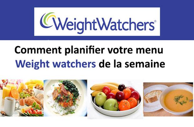 Comment planifier votre menu Weight watchers de la semaine