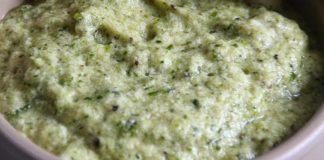 Mousse de courgettes au pesto
