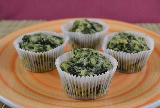 Muffins aux épinards avec Thermomix