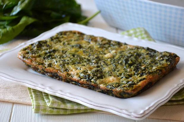 Omelette aux épinards Facile