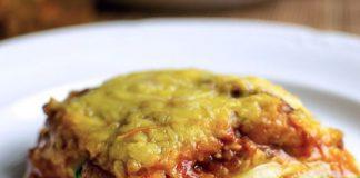 Lasagne de courgettes légère