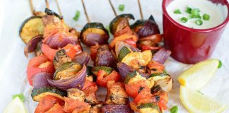 Brochettes de poulet aux légumes Weight Watchers