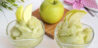 Sorbet aux pommes vertes avec Thermomix