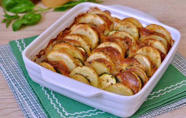 Gratiné aux pommes de terre et courgettes Weight Watchers