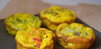 Muffins aux oeufs et légumes Weight Watchers