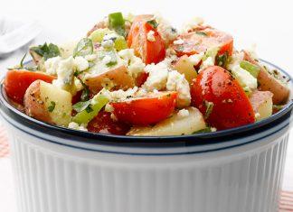 Salade de pommes de terre et tomates Weight Watchers