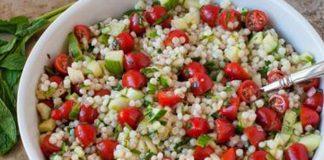 Salade de couscous aux légumes Weight Watchers