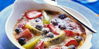 Gratin de fruits de saison Weight Watchers