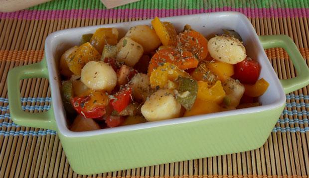 Salade de gnocchis froide aux légumes Weight Watchers