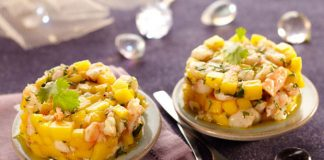 Tartare de Crevettes et Mangue Weight Watchers
