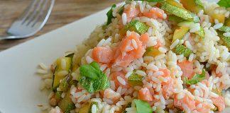Riz au saumon et courgettes léger