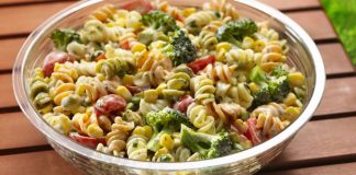 Salade de pâte à la vinaigrette à 0 point Weight Watchers