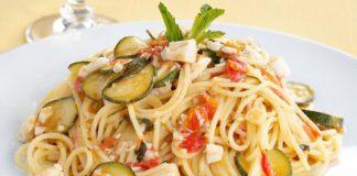 Spaghettis au Poisson et aux Légumes légères