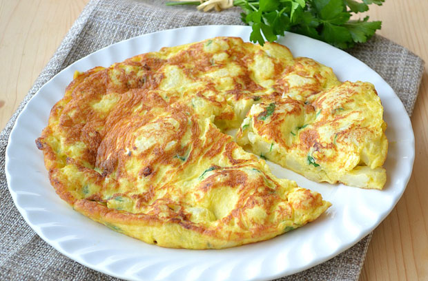 omelette au chou fleur légère
