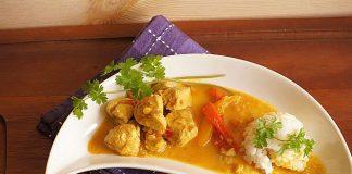 Poulet au curry et aux lentilles léger