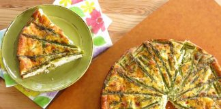 Quiche sans pâte aux asperges et jambon Weight Watchers
