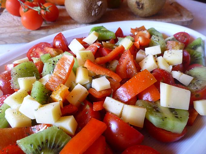 Salade de kiwi et tomate Weight Watchers