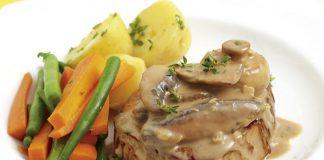 Steak aux champignons de Paris léger