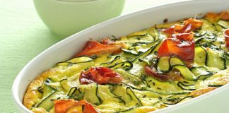 Clafoutis aux courgettes et jambon Weight Watchers