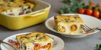 Clafoutis aux tomates cerises et olives noires Weight Watchers