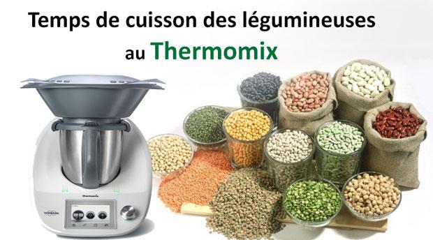 Temps de cuisson des différentes légumineuses au Thermomix