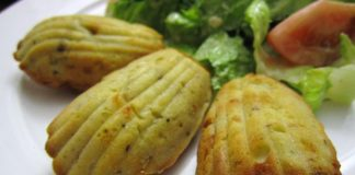 Madeleines salées aux courgettes Weight Watchers