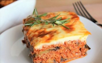 Moussaka légère Weight Watchers