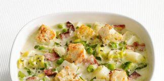 Poireaux et pommes de terre à la crème avec Cookéo