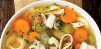 Soupe poulet et nouilles Weight Watchers