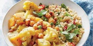 chou-fleur et pois chiches au curry