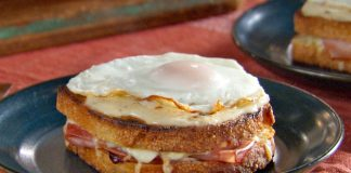 Croque madame léger Weight Watchers