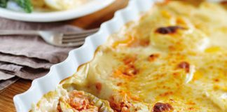Gratin dauphinois au saumon Weight Watchers
