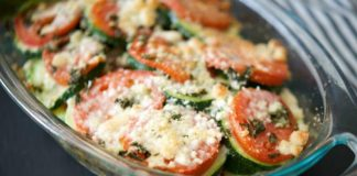 Gratin de courgettes et tomates Weight Watchers