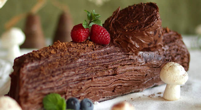 Bûche au chocolat légère