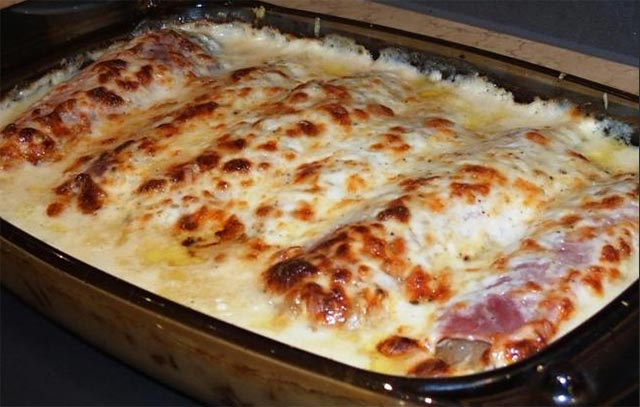 gratin d 39 endives au jambon et la sauce b chamel recette thermomix. Black Bedroom Furniture Sets. Home Design Ideas