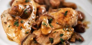Poulet aux champignons avec Cookeo
