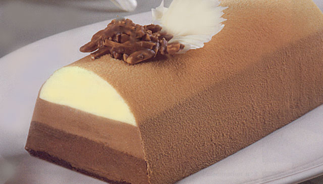 Bûche aux 3 chocolats avec Thermomix